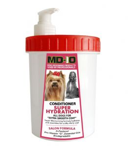 MD10 Conditioner Super Hydration 1,000ml Approx 48-50 Litre Diluted Afghan Hound Lhasa Apso Poodle Bichon